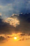 Hemel bij zonsondergang Stock Afbeelding
