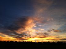 Hemel bij zonsondergang Royalty-vrije Stock Afbeeldingen