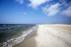 Hemel blauwe Deense kustlijn stock fotografie