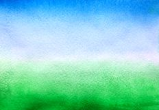 Hemel blauwe en groene achtergrond stock foto