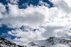 Hemel boven de bergen royalty-vrije stock foto's