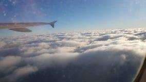 Hemel buiten vliegtuig royalty-vrije stock fotografie
