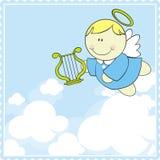 Hemel cherubijn vector illustratie