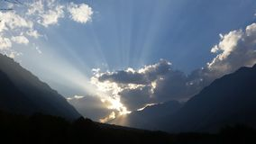 hemel in de bergen royalty-vrije stock fotografie