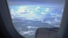 Hemel in de loop van de dag, op het vliegtuig wordt genomen dat stock footage
