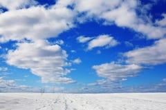 Hemel in de winter Stock Foto