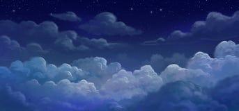 Hemel en colund bij nacht Vector Illustratie