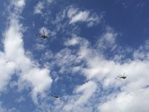 Hemel en helikopters Stock Afbeeldingen