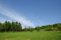 Hemel en heuvel Royalty-vrije Stock Afbeeldingen