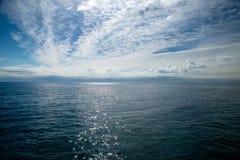 Hemel en overzeese horizon in Lloret de Mar Royalty-vrije Stock Foto's