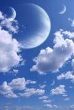 Hemel en planeten royalty-vrije illustratie