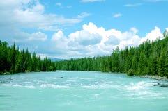Hemel en rivier Stock Foto