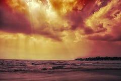 Hemel en stranden Stock Afbeeldingen