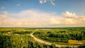 Hemel en van de wolkenzonsondergang landschap over van Zuid- York Carolina Royalty-vrije Stock Foto's