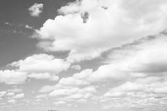 Hemel en witte wolken in Miami, de V.S. Cloudscape op blauwe hemelachtergrond Weer en aard Vrijheid en droomconcept stock afbeelding
