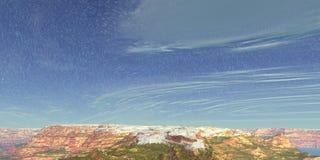 Hemel en wolken royalty-vrije illustratie