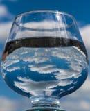 Hemel en wolken in het glas Royalty-vrije Stock Fotografie