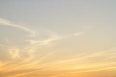 Hemel en wolkenzonsondergang Stock Fotografie