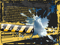 Hemel Grunge Flayer Royalty-vrije Stock Afbeeldingen