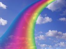 Hemel met regenboog Royalty-vrije Stock Afbeeldingen