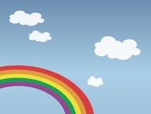Hemel met regenboog royalty-vrije illustratie