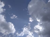 Hemel met wolken Royalty-vrije Stock Foto