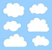 Hemel met wolken vector illustratie