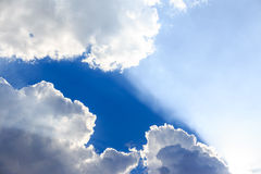 Hemel met wolken Stock Afbeeldingen