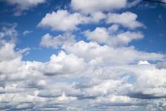 Hemel met wolken Royalty-vrije Stock Afbeeldingen