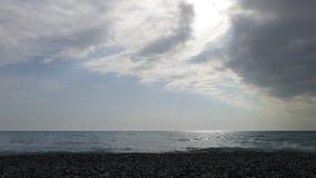 Hemel met wolken Een strook van overzees royalty-vrije stock foto's
