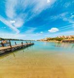 Hemel met wolken over Porto Cervo royalty-vrije stock foto's