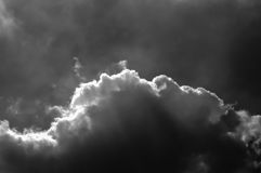 Hemel met Wolkenachtergrond Stock Foto's
