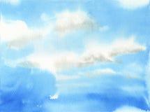 Hemel met wolkenillustratie Stock Afbeeldingen