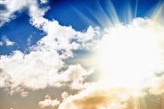 Hemel met zon Royalty-vrije Stock Afbeelding