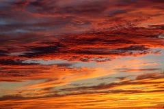 Hemel na zonsondergang Stock Afbeeldingen
