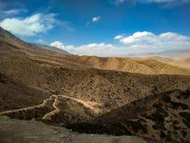 Hemel op aarde hoger mustang, trans-Himalayagebergte Nepal stock fotografie