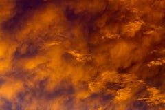 Hemel op brand Stock Afbeeldingen