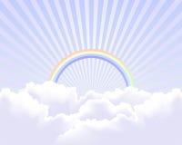Hemel op de hemelachtergrond vector illustratie