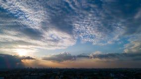 Hemel over BANGKOK Royalty-vrije Stock Foto's
