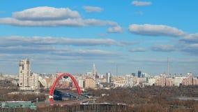 Hemel over de stad van Moskou stock footage