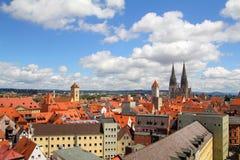 Hemel over oude stad Royalty-vrije Stock Afbeelding