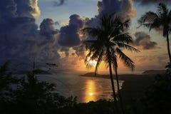 Hemel, overzees, oceaan, Koh Samui, Thailand, zonsondergang Royalty-vrije Stock Afbeelding
