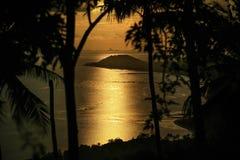 Hemel, overzees, oceaan, Koh Samui, Thailand, zonsondergang Stock Fotografie