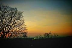 Hemel tijdens zonsondergang Royalty-vrije Stock Afbeeldingen