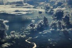 Hemel, wolken, Droom, vrijheid, vliegtuig Royalty-vrije Stock Foto's