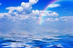 Hemel, wolken en overzees Royalty-vrije Stock Foto's