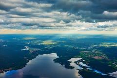 Hemel, wolken en rivier Royalty-vrije Stock Foto's