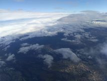 Hemel, wolken, land Stock Afbeelding