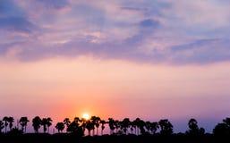 Hemel in zonsondergang Stock Fotografie