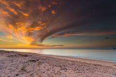 Hemel, zonsondergang, zonsopgang Stock Afbeelding